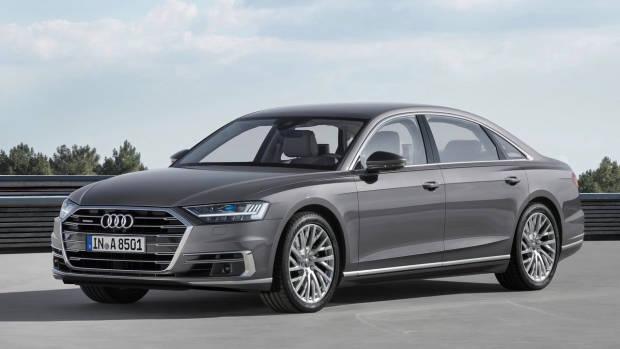 2018 Audi A8L grey front