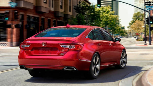 2018 Honda Accord red rear