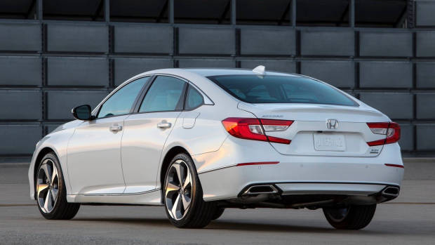 2018 Honda Accord white rear