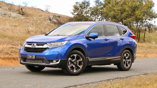 2018 Honda CR-V Brilliant Sporty Blue Front End
