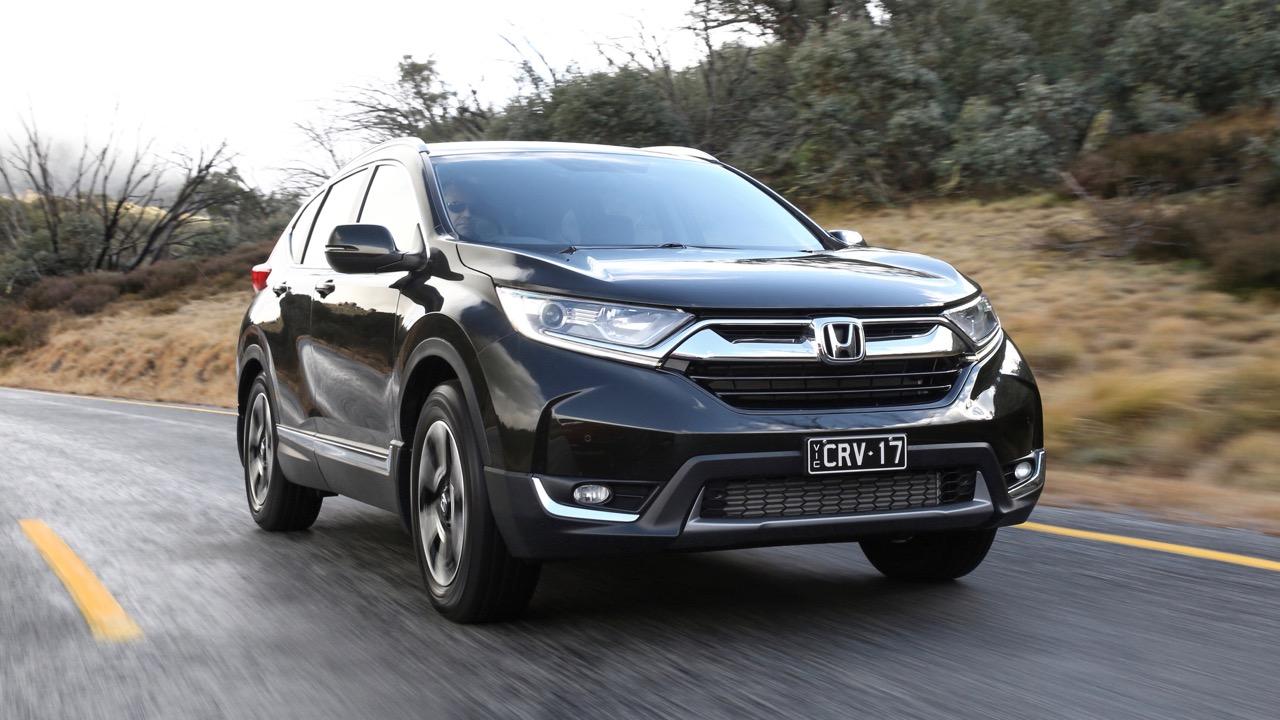 2018 Honda CR-V Crystal Black front end driving
