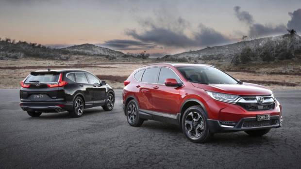2018 Honda CR-V range red and black