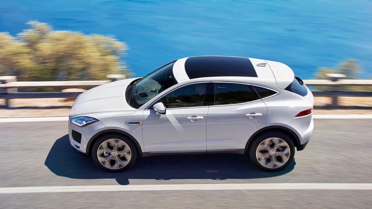 2018 Jaguar E-Pace White Side Profile – Chasing Cars