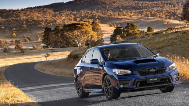 The 2018 Subaru WRX Lapis Blue front side