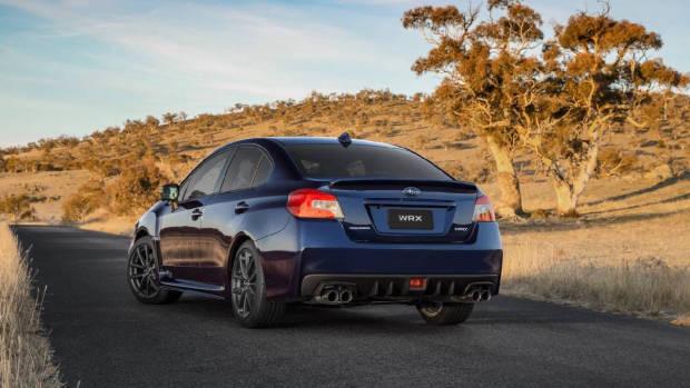 2018 Subaru WRX Lapis Blue rear