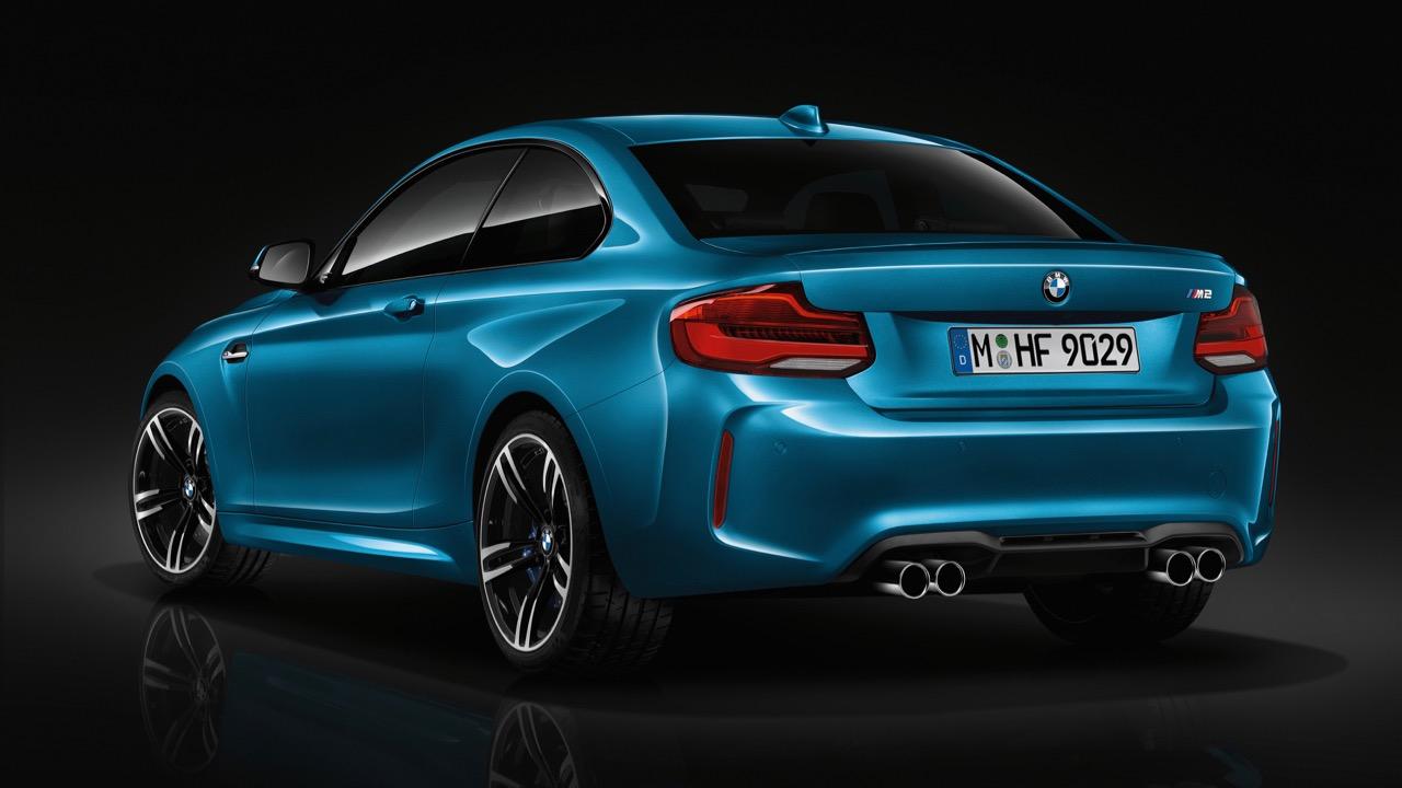 2018 BMW M2 LCI Long Beach Blue Rear End