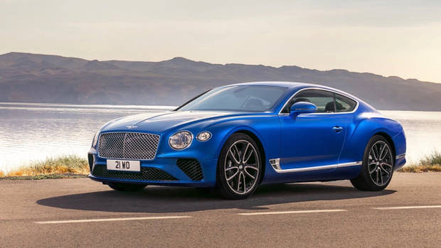 2018 Bentley Continental GT blue front side static