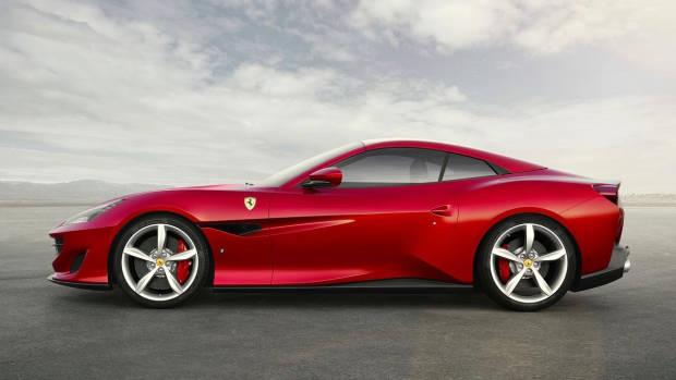 2018 Ferrari Portofino red side
