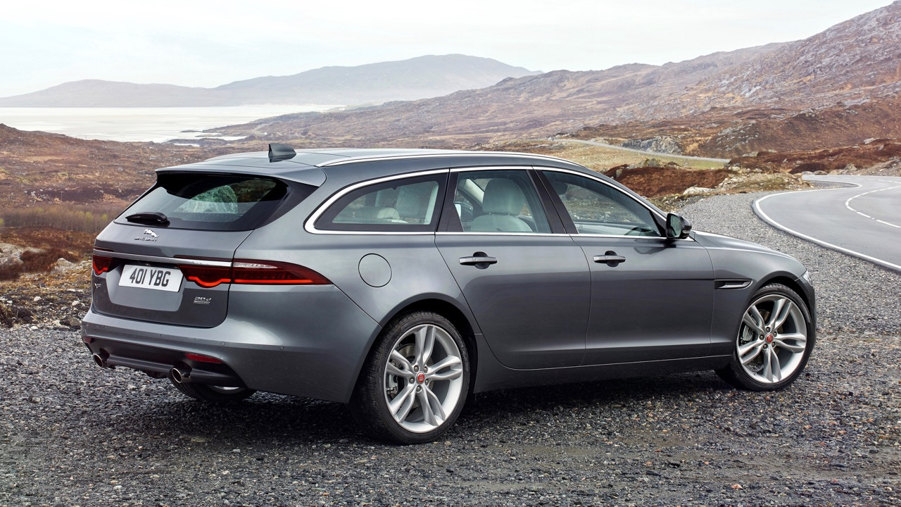 2018 Jaguar XF Sportbrake Grey Rear End