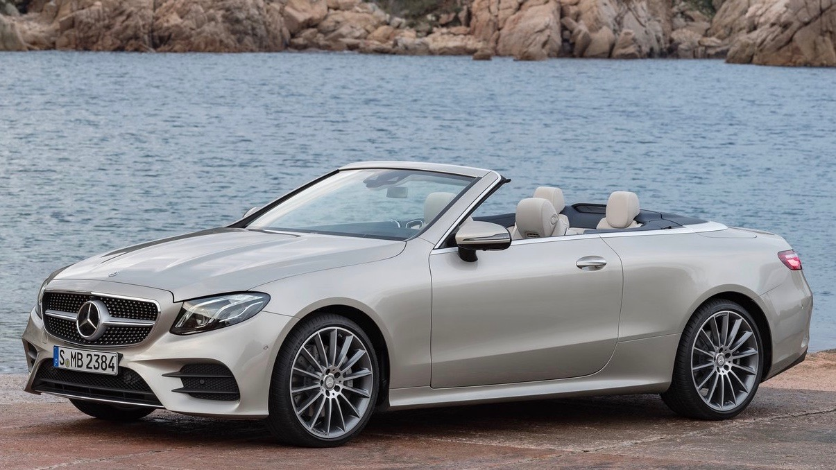2018 Mercedes-Benz E-Class cabriolet silver front side