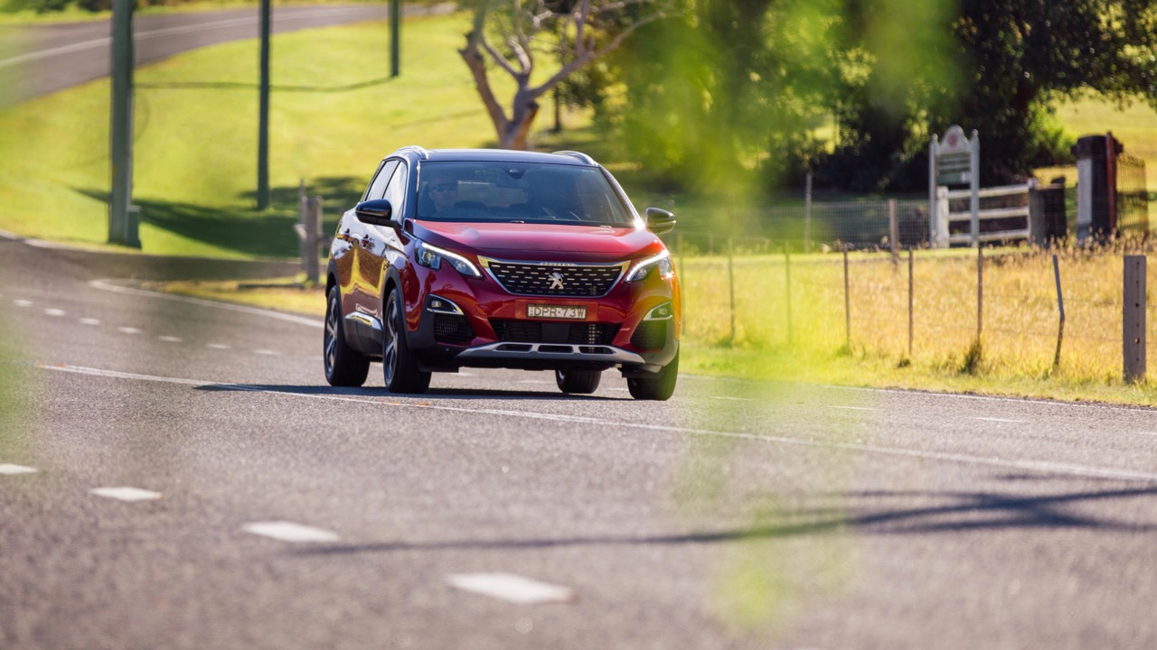 2018 Peugeot 3008 GT Line Ultimate Red Front End Driving