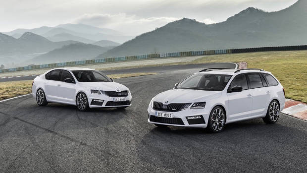 2018 Skoda Octavia RS white sedan + wagon