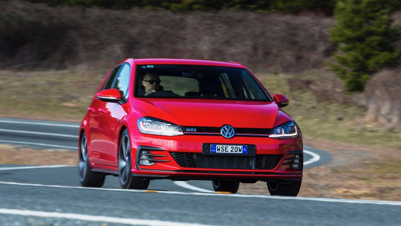 2018 Volkswagen Golf GTI Mk 7.5 Tornado Red Front End Driving