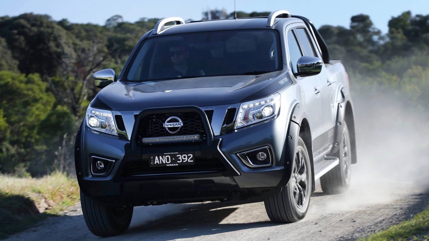 Nissan Navara N-Sport Black Edition grey front moving