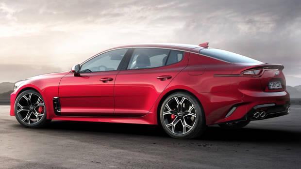 2017 Kia Stinger GT red rear side