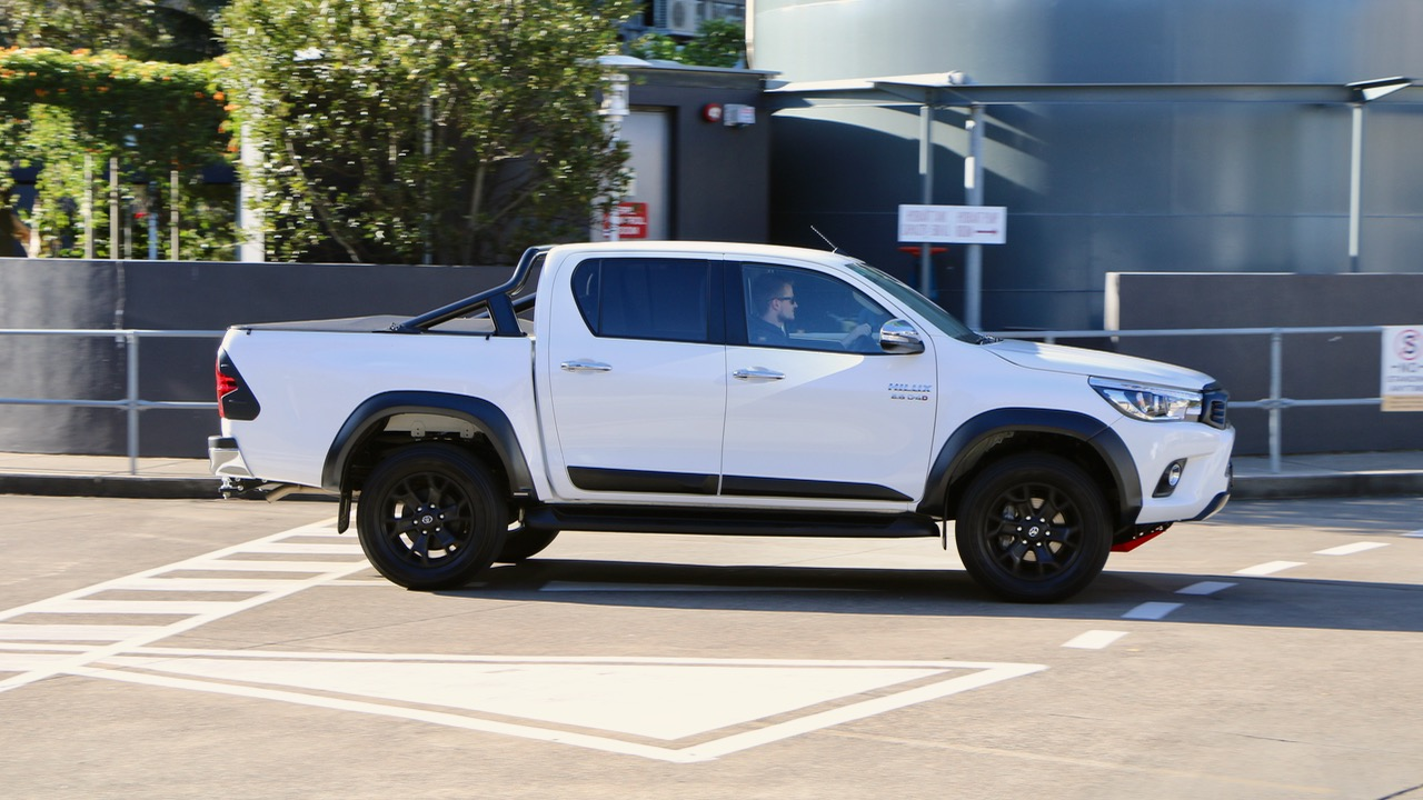 2017 Toyota HiLux TRD Crystal Pearl Driving Side Profile