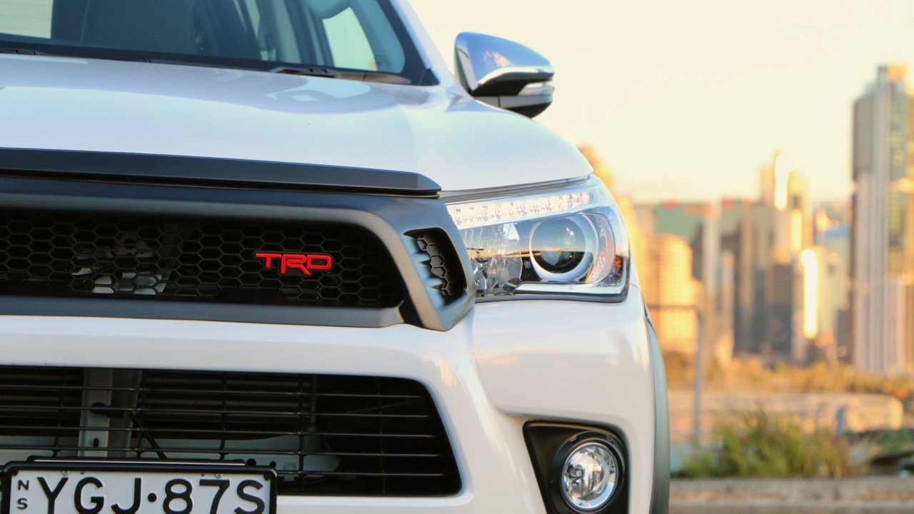 2017 Toyota HiLux TRD Red Grille Badge