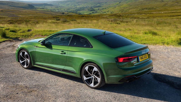 2018 Audi RS5 Coupe green rear