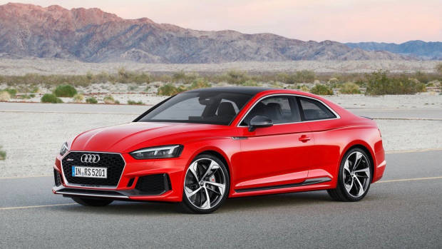 2018 Audi RS5 Coupe red front side