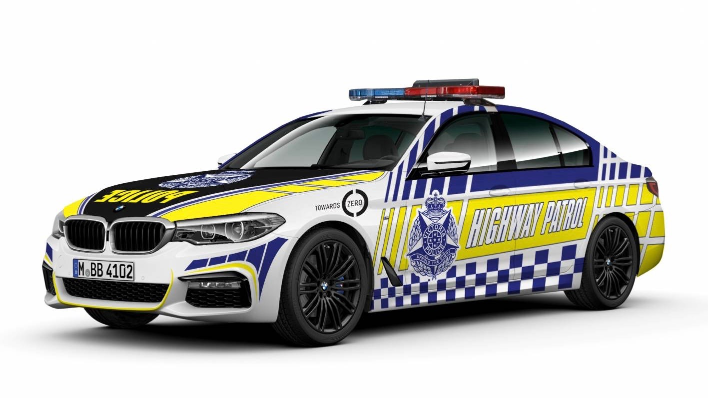 2018 BMW 530d Victorian police force front