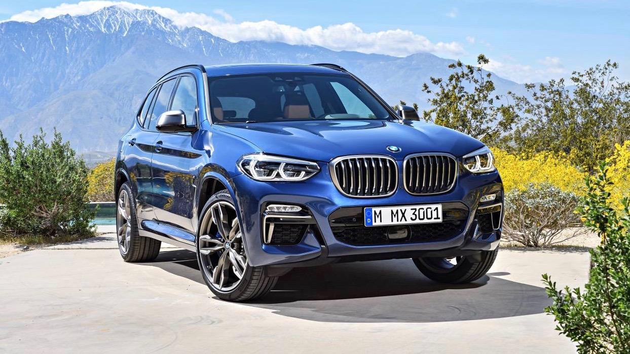 2018 BMW X3 blue front