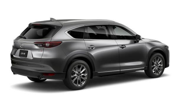 2018 Mazda CX-8 grey rear side