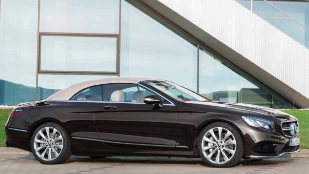 2018 Mercedes-AMG S-Class cabriolet brown side front