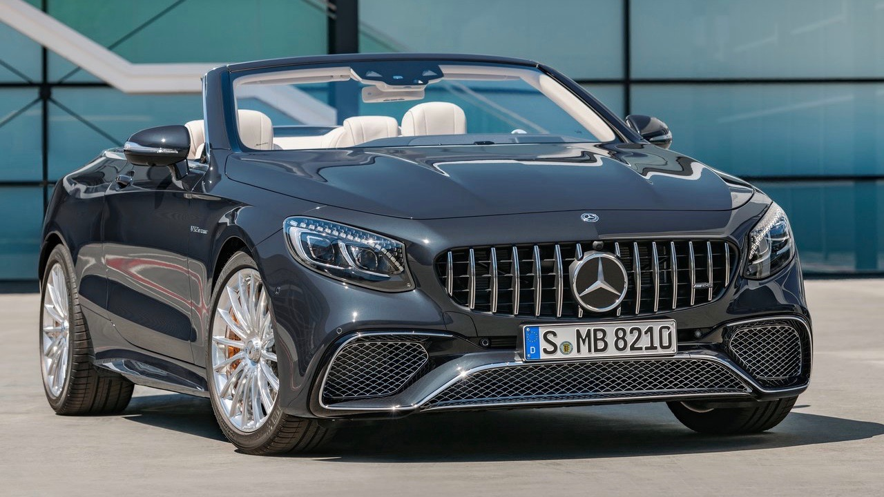 2018 Mercedes-AMG S-Class cabriolet grey front static