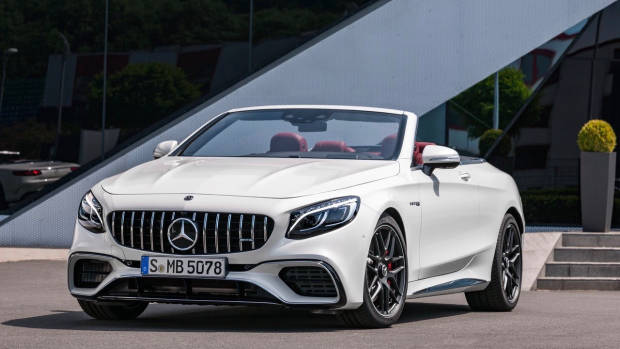 2018 Mercedes-AMG S-Class cabriolet white front static