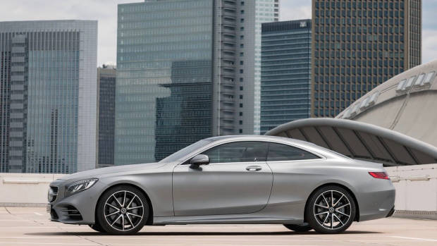 2018 Mercedes-AMG S-Class coupe silver side
