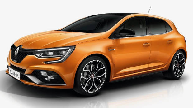 2018 Renault Megane RS Tonic Orange front side