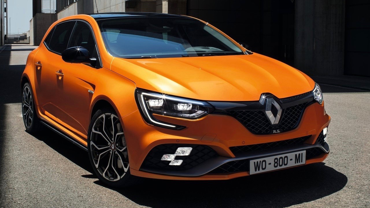 2018 Renault Megane RS Tonic Orange front