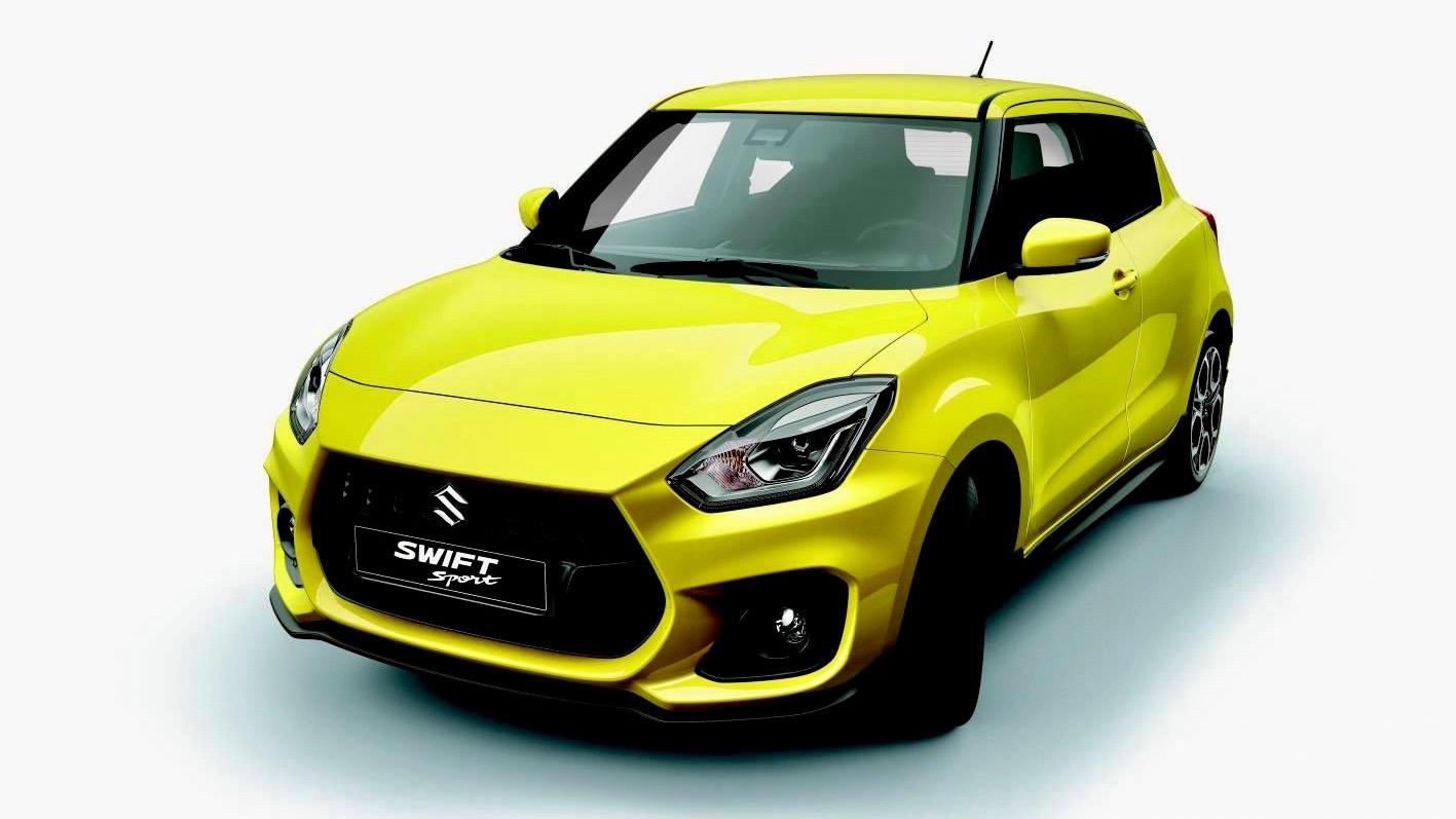 2018 Suzuki Swift Sport yellow front