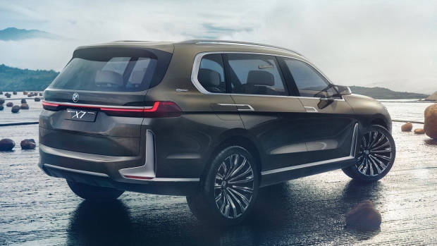 BMW X7 iPerformance concept brown rear
