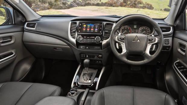 2017 Mitsubishi Triton Exceed Black Leather Interior