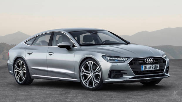 2018 Audi A7 silver front side left