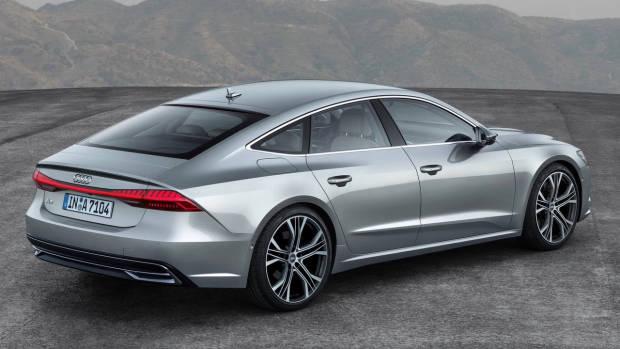 2018 Audi A7 silver rear side right