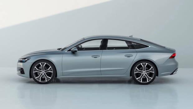 2018 Audi A7 silver side