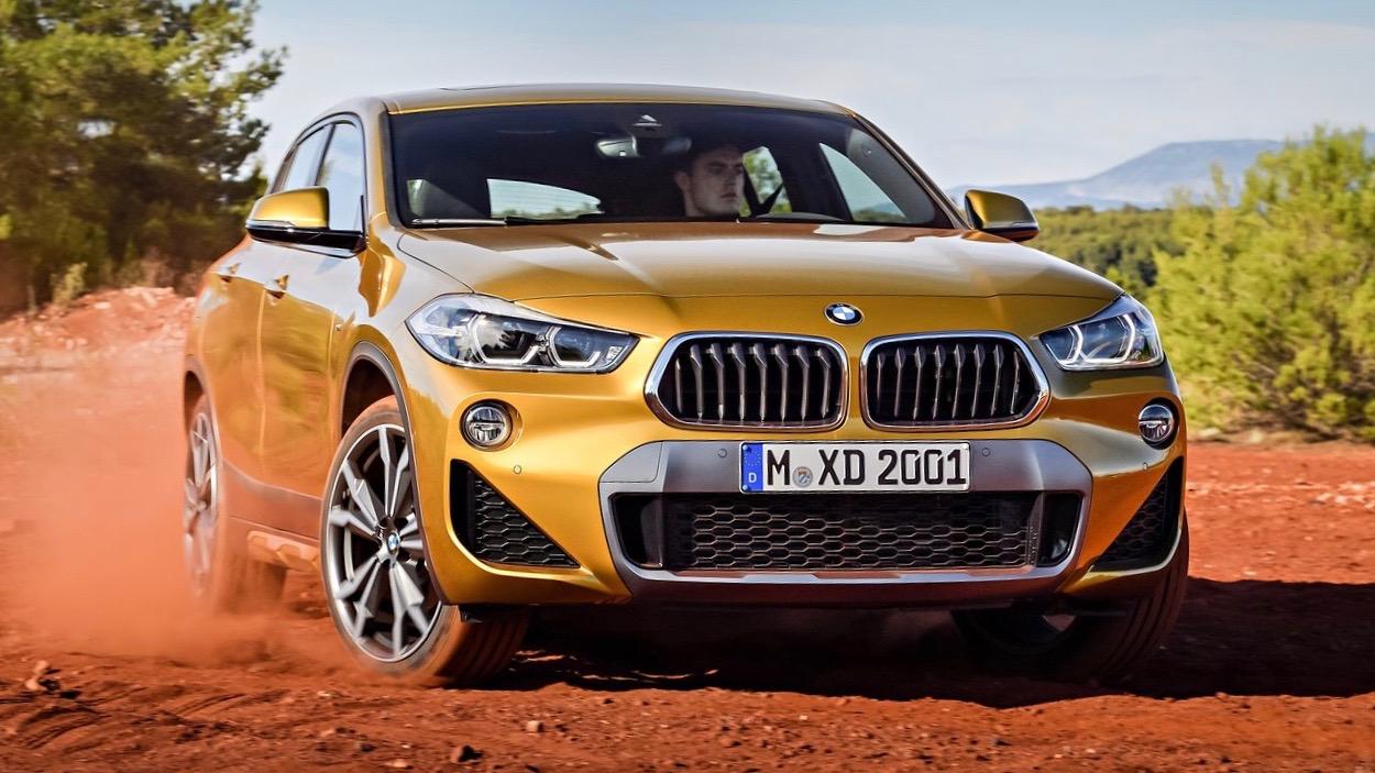 2018 BMW X2 M Sport X yellow front