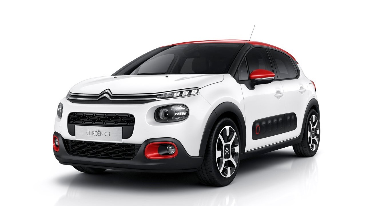 2018 Citroen C3 white front close