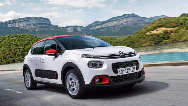 2018 Citroen C3 white front moving