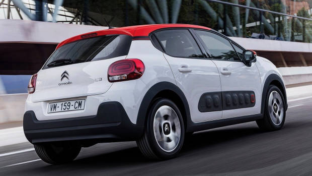 2018 Citroen C3 white rear