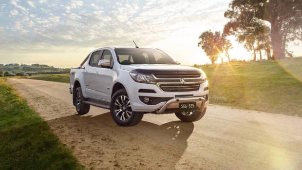 2018 Holden Colorado Storm white front