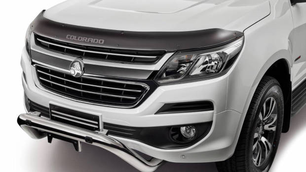 2018 Holden Colorado Storm white front bonnet protector
