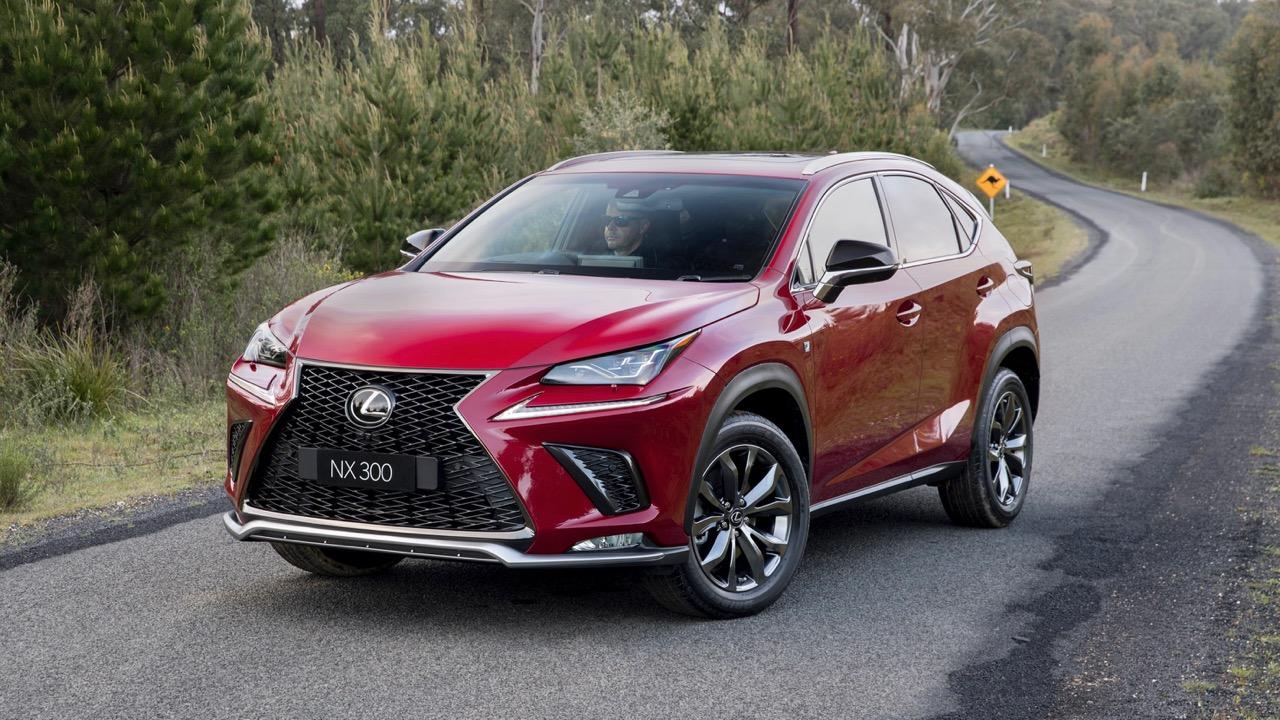 2018 Lexus NX F Sport red front side