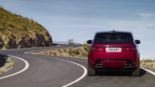 2018 Range Rover Sport red rear