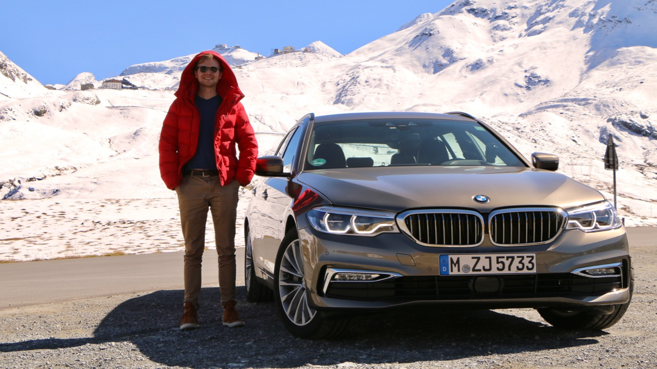 2018 BMW 5 Series Touring with Tom Baker Umbrail Pass