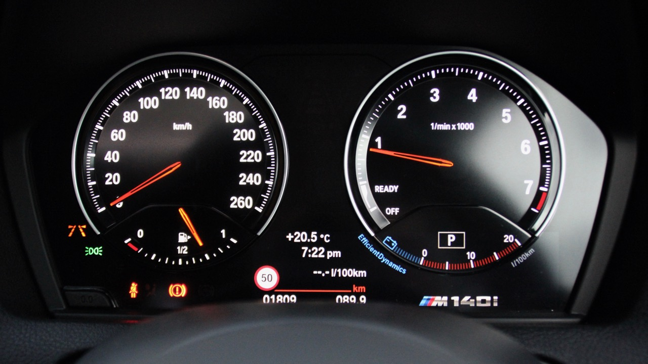 2018 BMW M140i Review Analogue Dials