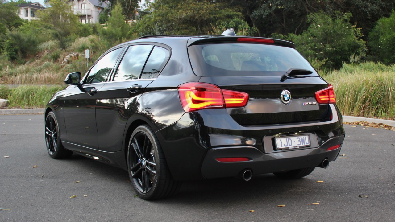 2018 BMW M140i Review Rear End Black Sapphire