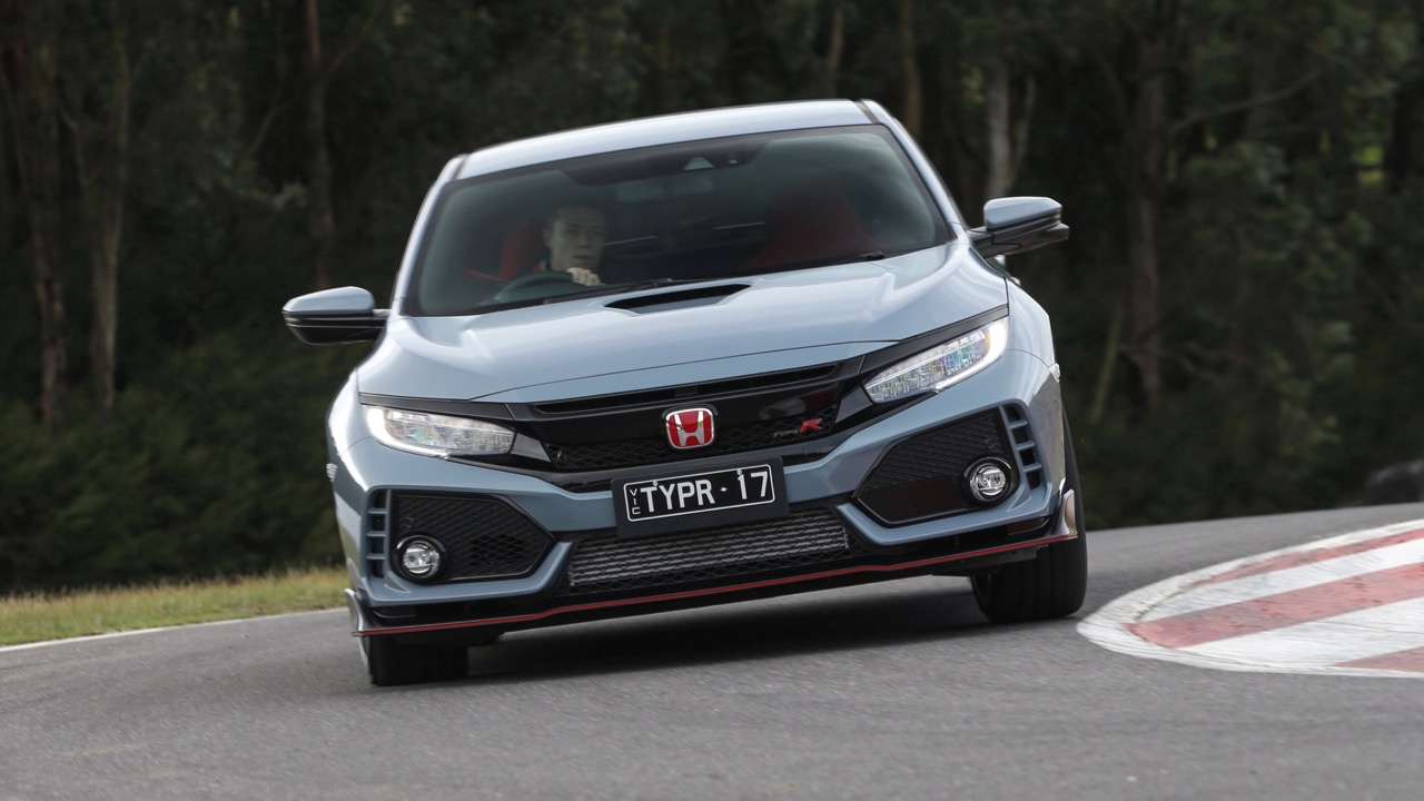 2018 Honda Civic Type R Front End Sonic Grey